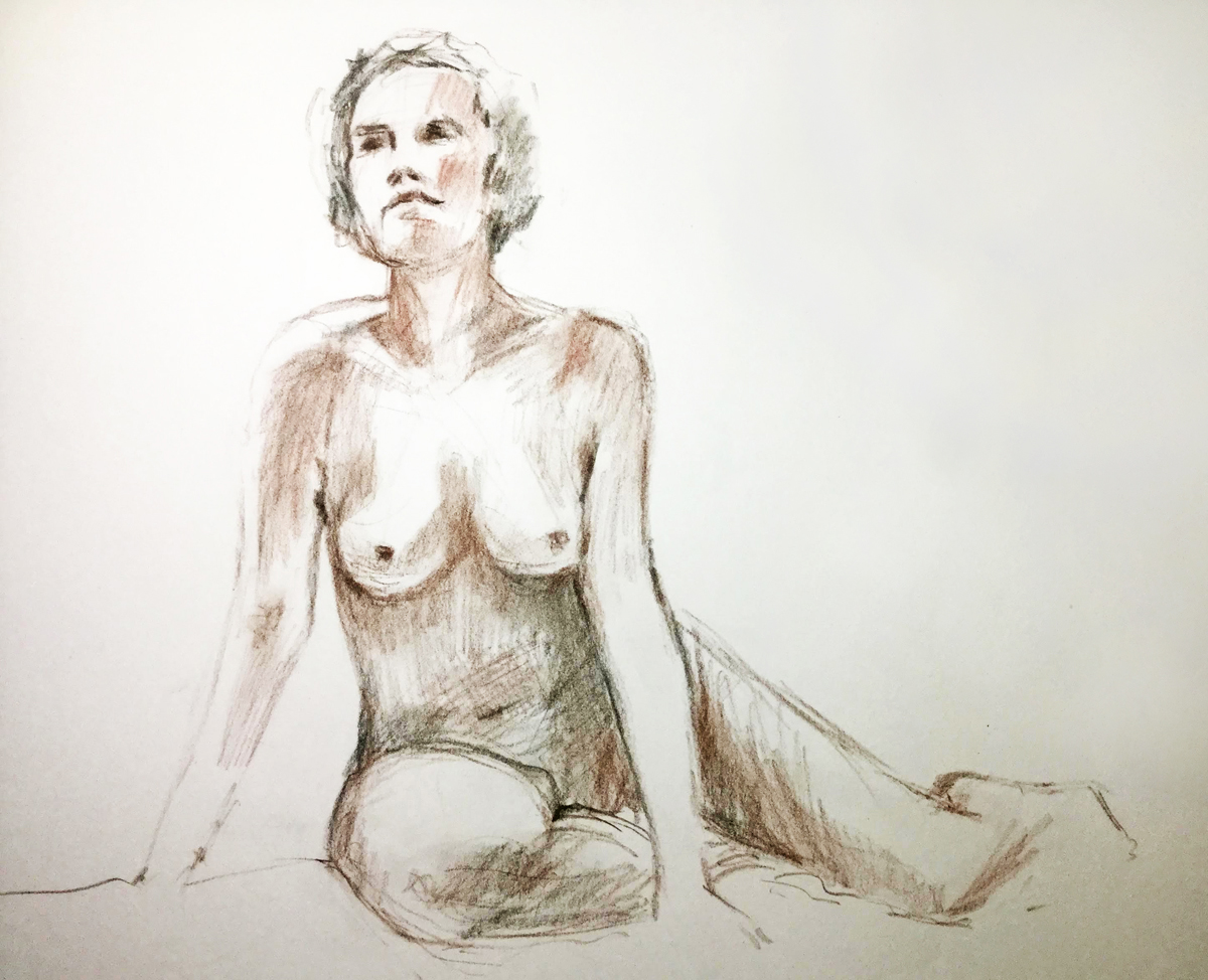 Woman figure drawing