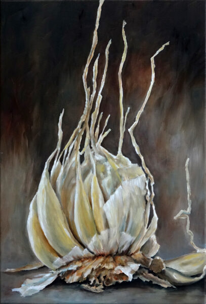Garlic painting